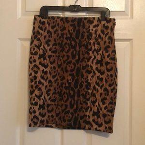 The Limited Animal Print Pencil Skirt